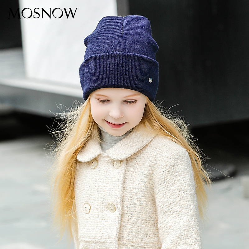MOSNOW Caps Children's Winter Boys Girls Baby Cotton Brand New 2018 Fashion High Quality Knitted Beanie Skullies Bonnet #MZ238C