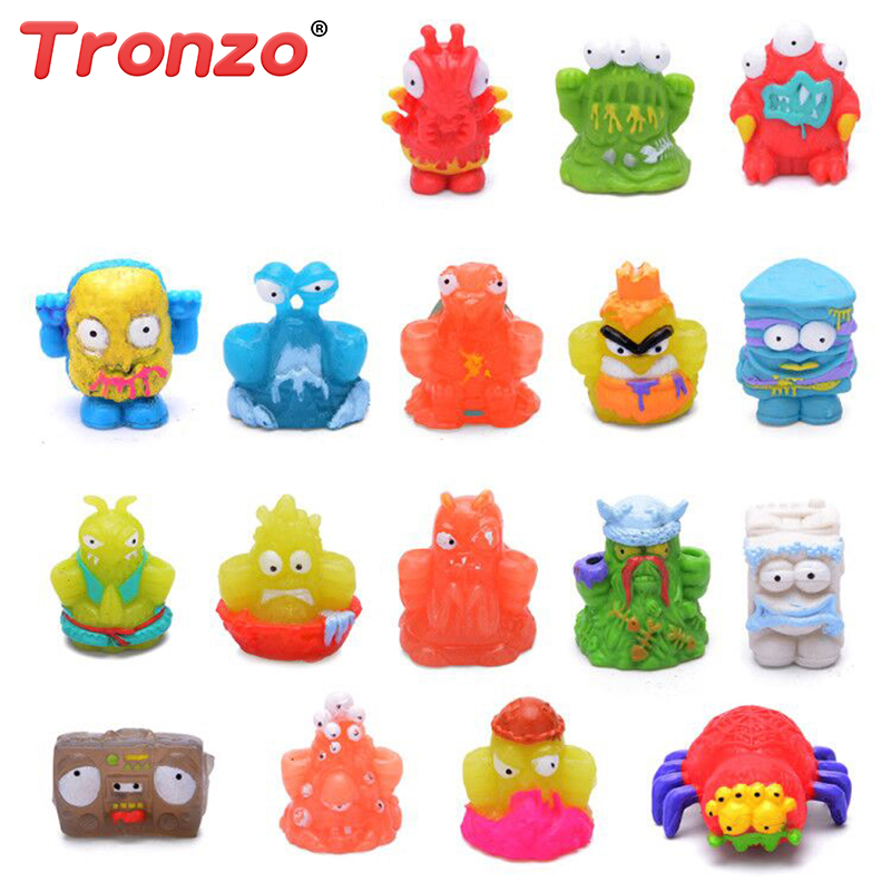 Tronzo 20pcs/Bag 3cm Funny Anime Action Figure Toys Soft Garbage Moose The Grossery Gang Collection Model Doll Gift For Children