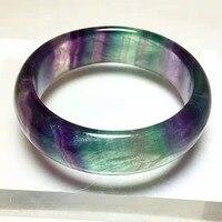 Плетеный браслет с камнями Красочные Флюорит Кристалл Gem Jewelry Браслеты Внутренний диаметр 56,6 мм