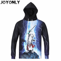Vreugde Alleen 2018 Vrouwen/Mannen Nieuwe 3D Hooded Sweater Space Galaxy Cat Print Hoodies Fashion Pullover Merk Kleding Tops Size M-3XL