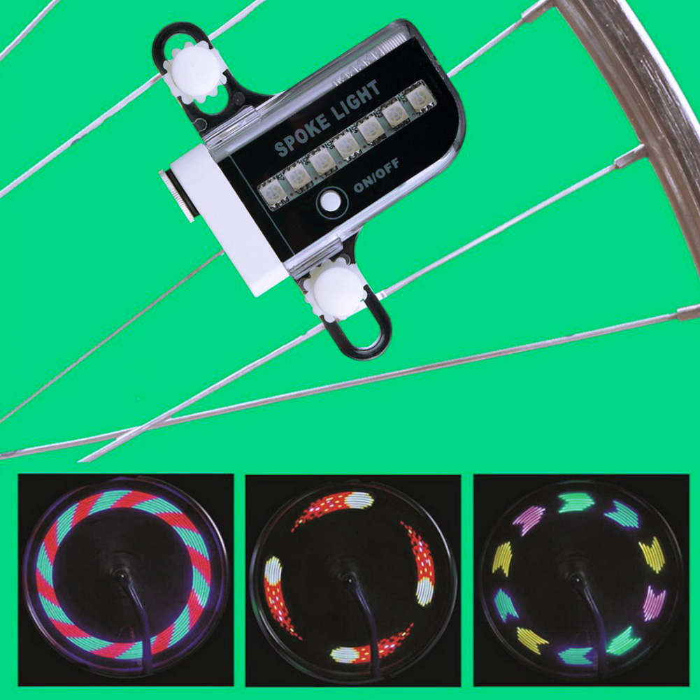 2017 New 14 LED Motorcycle Cycling Bicycle Bike Wheel Signal Tire Spoke Light 30 Changes new arrival Led Bicicleta Bike Light