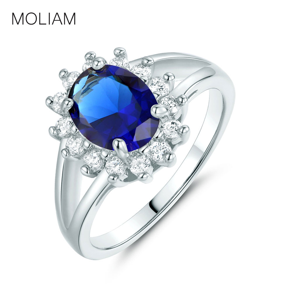 bc66e18c8608 Moliam nuevo diseño joyería Anillos mujer plata color cubic zirconia mujeres  anillo fábrica Venta Directa mlr199