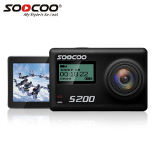 SOOCOO Voice Control S200 Wifi 4K Action Camera 2.45 Touch Screen with Gyro and Remote, GPS Extension(GPS Model not include)