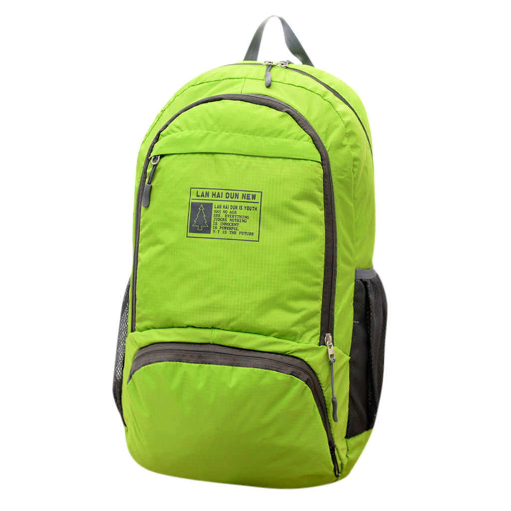 Outdoor Sport Bag Running Bag Lightweight Packable Backpack Durable Travel Hiking Camping Daypack Casual Folding Bag