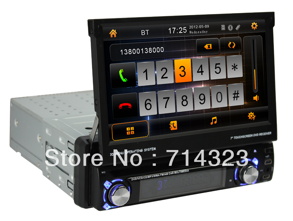 1 din android 4 4 car dvd player with gps car radio 7 inch. Black Bedroom Furniture Sets. Home Design Ideas