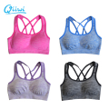 Professional Sports Mesh Fitness Women Yoga Gym Top Sexy Padded Push-up Sports Bra Yoga Fitness Vest Bra Workout Running Top Bra