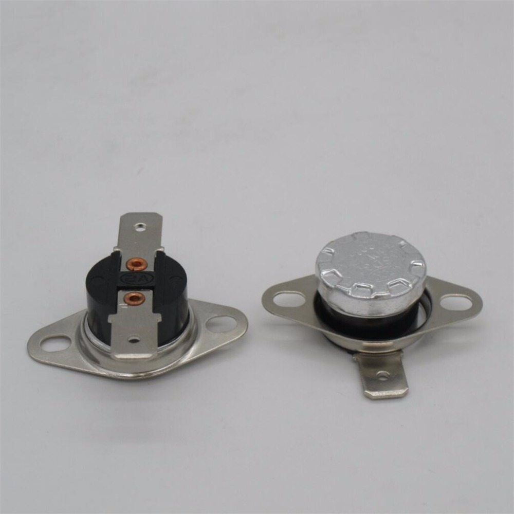 KSD301 N//O 10 C 10A Normally Open Temperature Switch Bimetal Disc Klixon