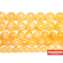Piedra amarilla Natural Jaspers perlas 15