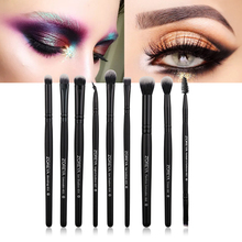 ZOREYA 9pcs/set Makeup Brushes Sets for Eye Powder Blending Blusher Make Up Brush Eyeshadow Cosmetic Tool Kits Maquiagem