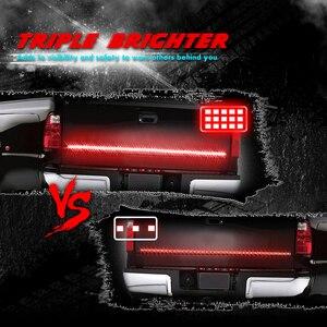 "Image 3 - MICTUNING tira LED trasera para puerta de coche, Triple fila, 60 "", intermitente estroboscópico ámbar, lámpara de freno rojo, luz de marcha atrás blanca"