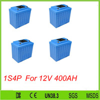 4pcs 1S4P 12v 100ah lifepo4 battery pack with 2000 cycles time lifepo4 12v 100ah battery pack For 12V 400AH lifepo4 battery pack
