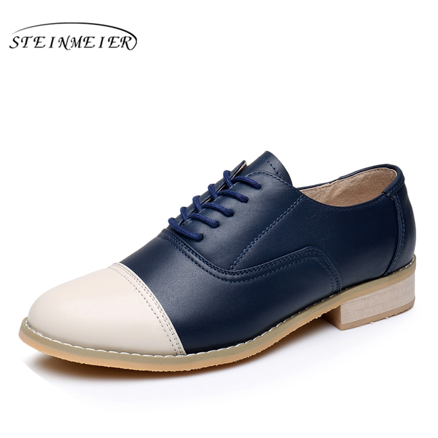 Genuine leather big woman US size 11 designer vintage flat shoes round toe handmade beige blue oxford shoes for women with fur cow leather big woman us size 9 designer vintage flats shoes round toe handmade grey yellow oxford shoes for women with fur