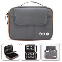 Acoki bolsa organizadora de accesorios electrónicos de viaje de 2 capas de Nylon de alto grado, bolsa de transporte para dispositivos de viaje, tamaño perfecto apto para i Pad