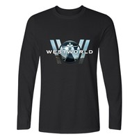 WESTWORLD Fahion Long Sleeve TShirts West World T-shirt Men Hip Hop and cotton TShirt Plus Size Summer Tee Shirts XXS 4XL