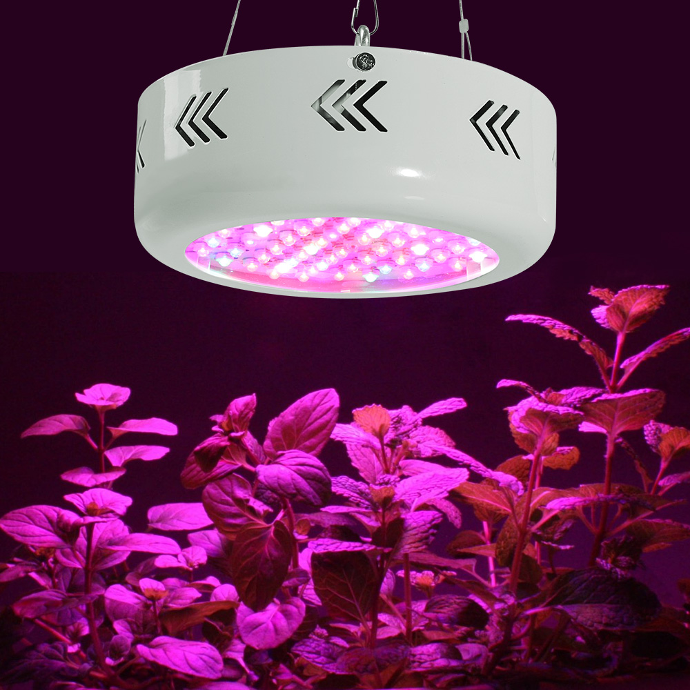 2pcs/lot New Designed 216W UFO Full Spectrum LED Grow Light Plants Growing and Flowering led grow panel Indoor phyto LEDs lamp 5pcs lot 90w ufo led grow light led horticulture lighting 9bands led lamp best for medicinal plants growth and flowering