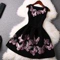 Сексуальные Женщины Рукавов Платье Бабочка Печати Вечернее Платье Клубная Одежда