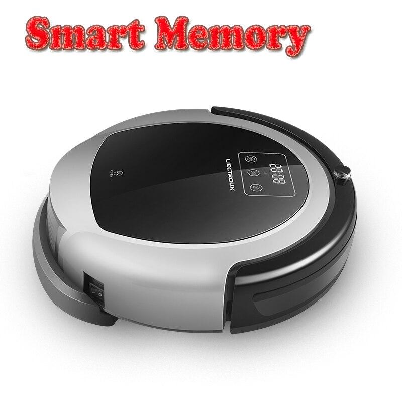 LIECTROUX Robot Aspirapolvere B6009, 2D Mappa e Giroscopio di Navigazione, con la Memoria, Forte Aspirazione, doppia Lampada UV, 3D filtro HEPA, Bagnato Mop