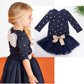 Baby Girls Party Long Sleeve Tops T-shirt+Tulle Outfits Set Tutu Dress