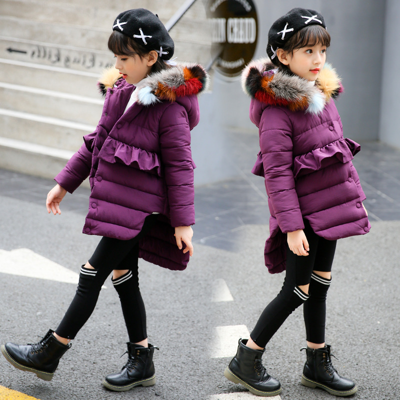 Kindstraum 2018 New Winter Girls Fashion Cotton Coat Kids Solid Thick Jacket Colors Fur Coat Children Warm Brand Outwear, MC953 цены онлайн