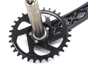 Image 4 - 170/175mm MTB Crankset crank Chainwheel 30/32/34/36/38T 7075 chainring CNC Alu צר רחב עבור GXP XX1 X9 XO X01
