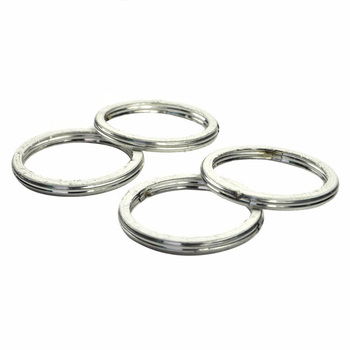 LOPOR 4 PCs Exhaust Pipe Header Gasket for Honda Motorcycle CBR900RR 2011-2015 CB1000R 2014 CB1000RA ABS 1979-1982 CBX image