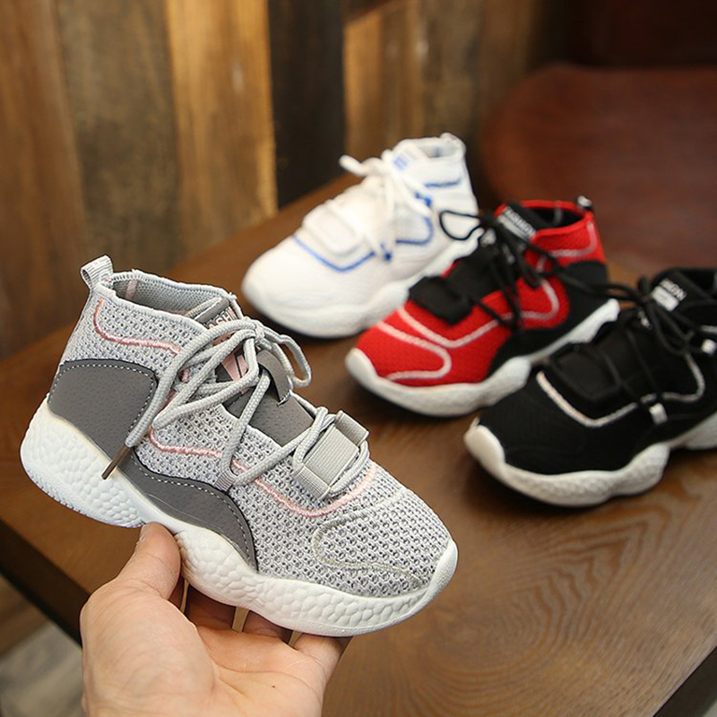 Autumn Breathable Mesh Children's Shoes High Quality Casual Shoes Light Sport Shoes Kids Sneakers Comfortable Girls Boys