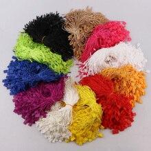 300 шт., квадратная веревка для одежды, 11 цветов, шнуры из полиэстера, Висячие таблетки для одежды, сумки, бирки, карты, аксессуары для одежды DIY