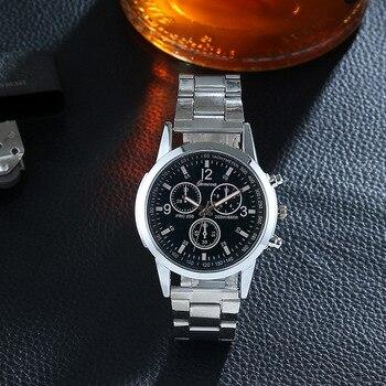 Stainless Steel Quartz Analog Sport Military Wrist Watch Men Reloj Hombre 2019 Relogio Mens watches top luxury brand Man Watch