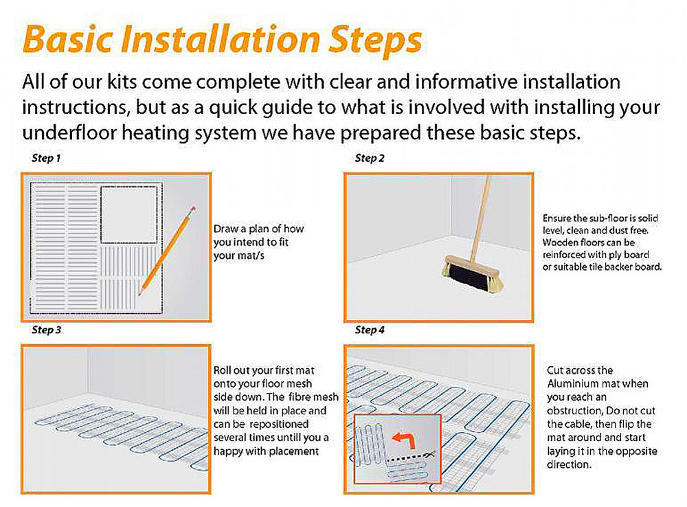 warm radiant floor heating systems