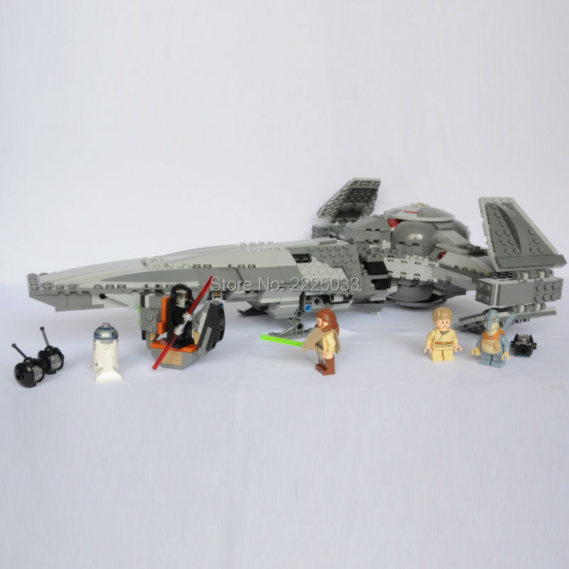 05008 698pcs The Force Awakens Sith Infiltrator Building Block Darth Margus Mini Action Figure Toys bricks Compatible SW 75096