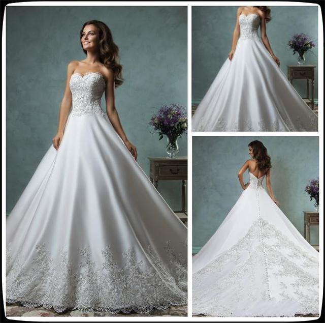 2016 Amelia Sposa Wedding Dresses A Line Lace Wedding Gowns With ...