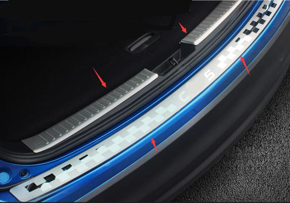 3 PCSHigh Quality Stainless Steel Inner Rear Bumper Protector Sill Trunk Trim For <font><b>Mazda</b></font> CX-5 <font><b>CX5</b></font> 2012 2013 2014 <font><b>2015</b></font> <font><b>accessories</b></font> image