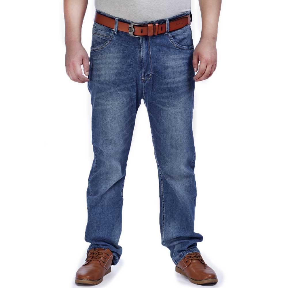 Loose Fit Baggy Jeans for Men Comfortable Cotton Denim Pants Monkey Wash Professional Plus Size 42