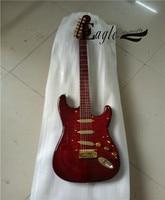 Орел. Бабочка, электрогитара, бас магазин, 22 розово красный ST металлическая рок гитара, Расширенная настройка.