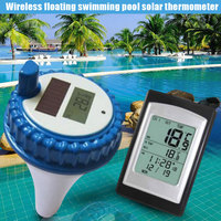 Wireless Solar Power Floating Pool Thermometer Digital Swimming Pool SPA Floating Thermometer Hygrometer
