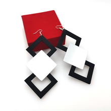 YD&YDBZ New Designer Handmade Earrings Women Drop A Pair Of Jewelry Light And Soft Earring Black Rubber Big Accessories