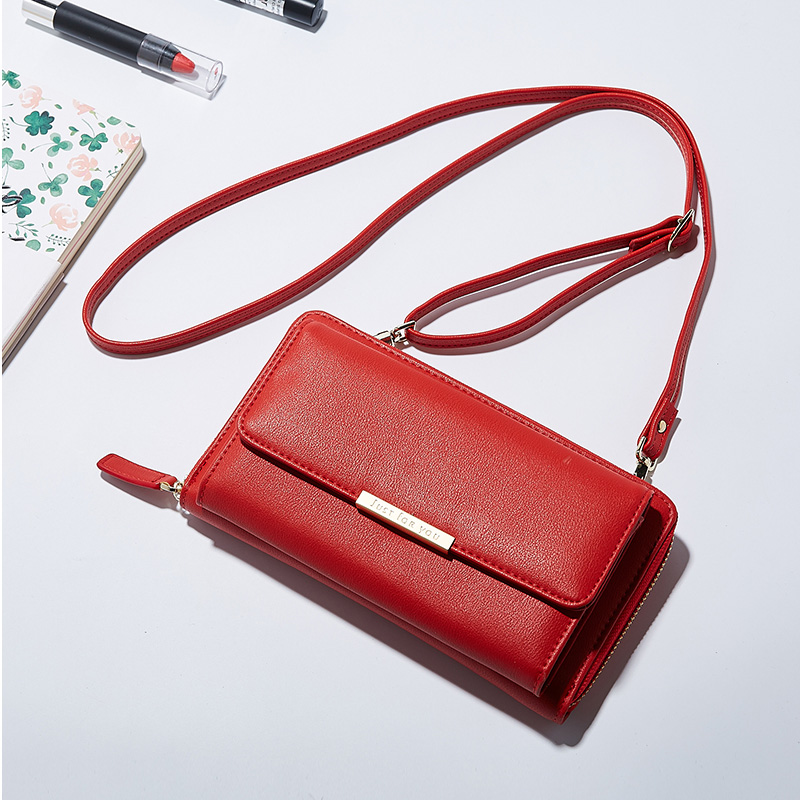 Women Leather Wallet Girls Purse Small Crossbody Bags Multiple Cards Holder Phone Pocket Female Standard Wallets Dropshipping