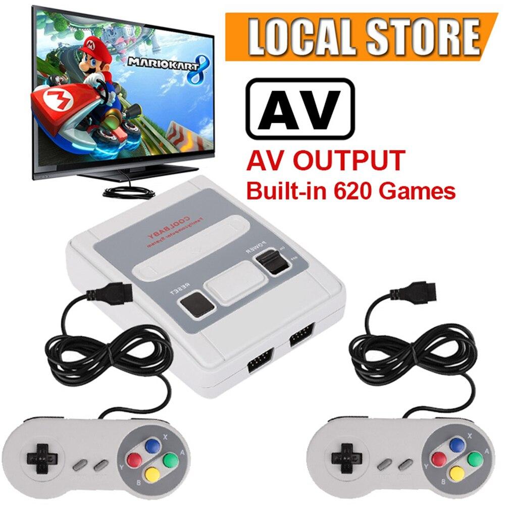Super Mini HDMI TV Família 8 Bit SNES Console De Vídeo Game Retro Clássico Saída HDMI HD TV Jogador Handheld Do Jogo criada em 621 Jogos