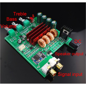 Image 2 - TPA3116D2 Bluetooth 5.0 Amplifier Audio Board 50W*2 Tweeter Bass adjustment Car Home Theater Digital Amplifiers NE5532 With AUX