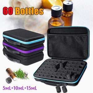 Image 2 - 60 przegródek woreczek do przechowywania olejków eterycznych przenośne niezbędne do podróży organizer na buteleczki olejek zapachowy narzędzie do zbierania walizek