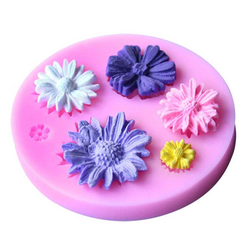 قالب من السيليكون 3D الشمس روز زهرة سيارة البومة شكل قوالب للصابون ، حلوى ، الشوكولاته ، الجليد ، الزهور كعكة تزيين أدوات