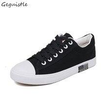 Новые летние женские плоские туфли из парусины Женская повседневная обувь для студентов модная обувь