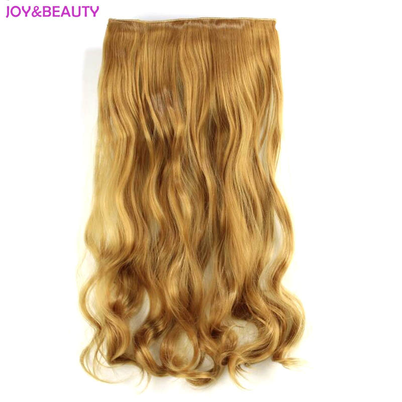 Glädje och skönhet Långt vågigt värmebeständigt klipp i - Syntetiskt hår