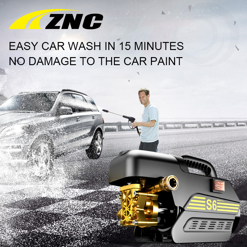 ZNC High Electric Pressure Car Washer High FLow 7LPM Self Suction Cleaning Self Suction Cleaning Machine High Pressure Gun Z6 ...