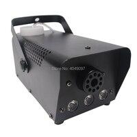 Mini 400W RGB fog machine with Wireless remote control dj disco smoke machine for party wedding Christmas stage fogger machine