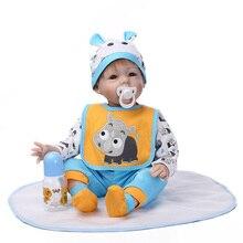 NPK 55 см большой размеры полный средства ухода за кожей силиконовые reborn Baby soft real touch силиконовая, виниловая кукла прекрасный ребенок best игрушечные лошадки
