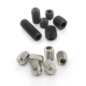 50 / 20 /10pcs M1.6 M2 M2.5 M3 M4 M5 M6 M8 DIN916 Stainless steel 304 grade 12.9 Alloy steel Hex Socket Set Screws Grub Screw