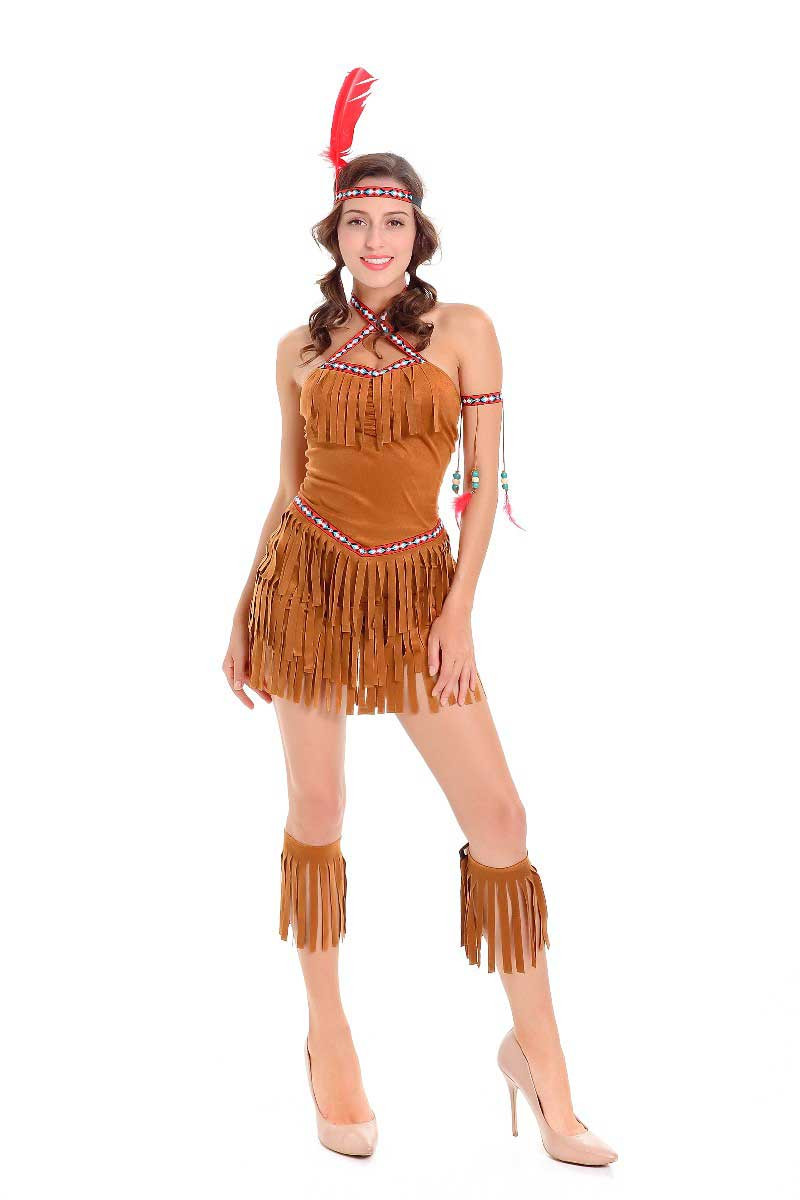 Halloween costume Ladies Pocahontas Native American Indian West Fancy Dress Sexy Halloween Party Indian Princess Outfit -in Holidays Costumes from Novelty ...  sc 1 st  AliExpress.com & Halloween costume Ladies Pocahontas Native American Indian West ...