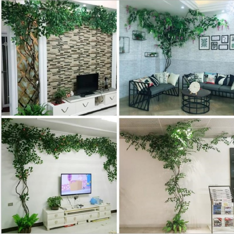 Ensemble de plantes artificielles décoration de mariage aménagement paysager vigne sèche faux arbres canne verte décoration d'intérieur plante verte - 3
