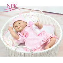 NPK Drop shipping 40cm Silicone adora Lifelike Bonecas Baby newborn realistic magnetic pacifier bebe bjd doll reborn for child g(China)